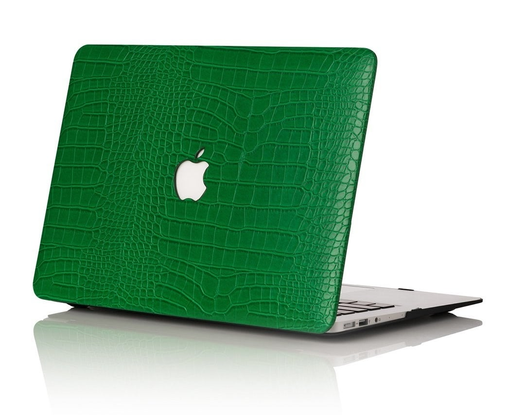 the green laptop cover