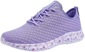 The sport sneakers in lavender