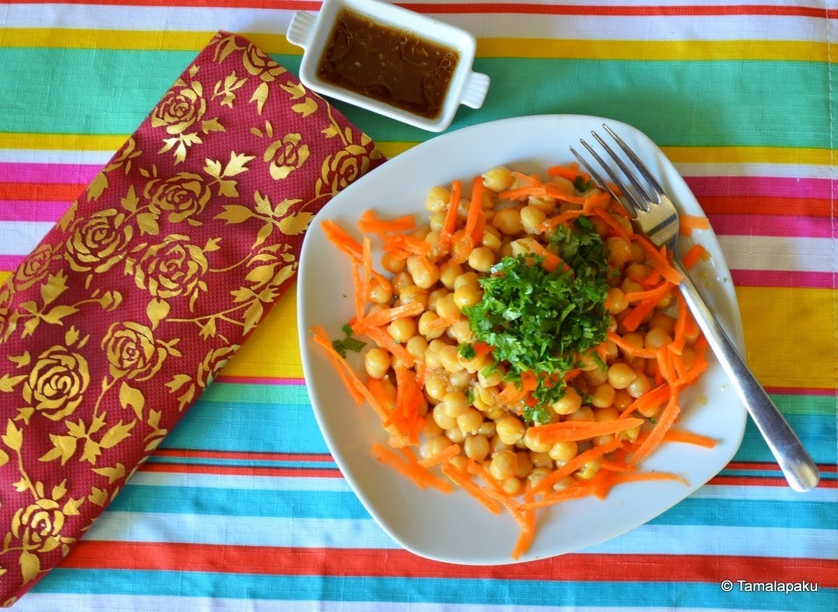 A plate of chickpea salad