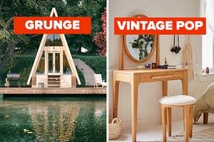Grunge modern home, vintage pop bed spread