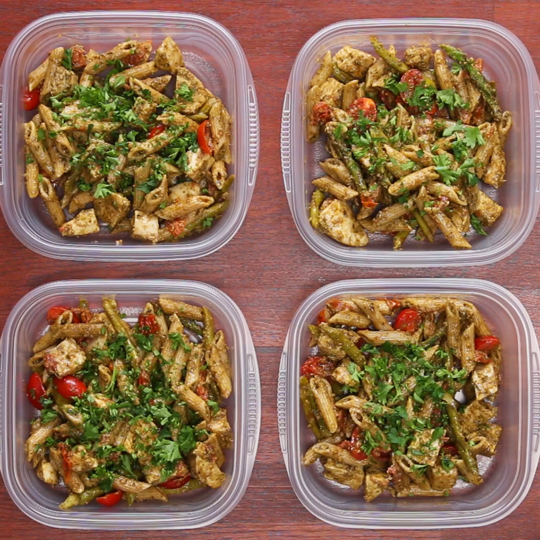 Meal Prep Pesto Chicken Pasta