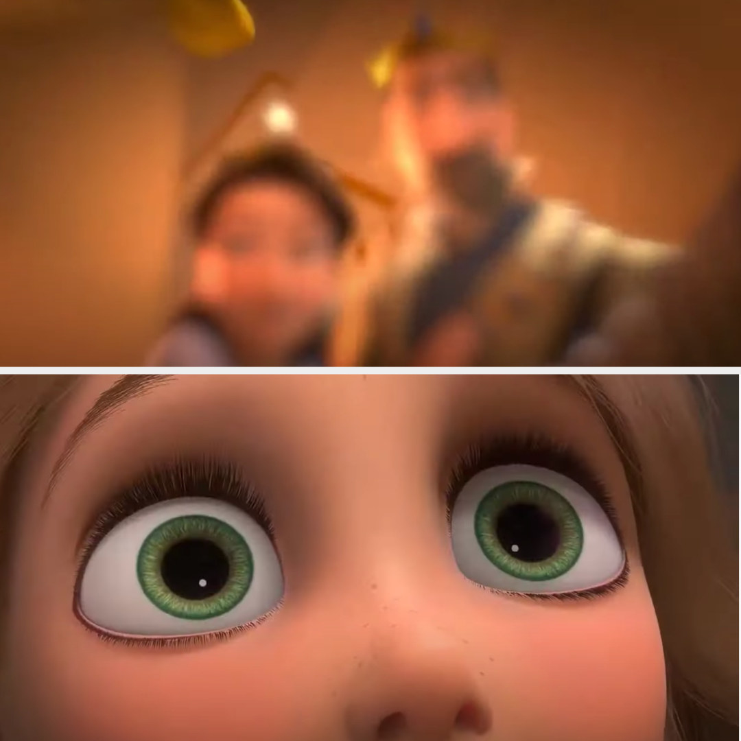 Rapunzel remembering seeing her parents as a baby