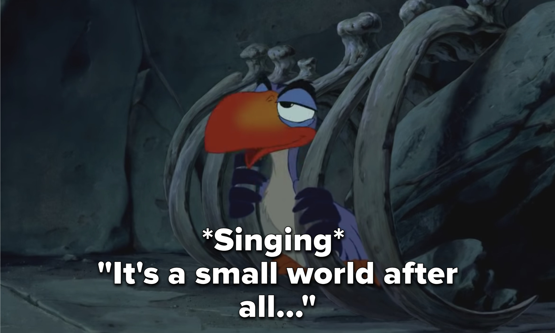Zazu singing It's a Small World