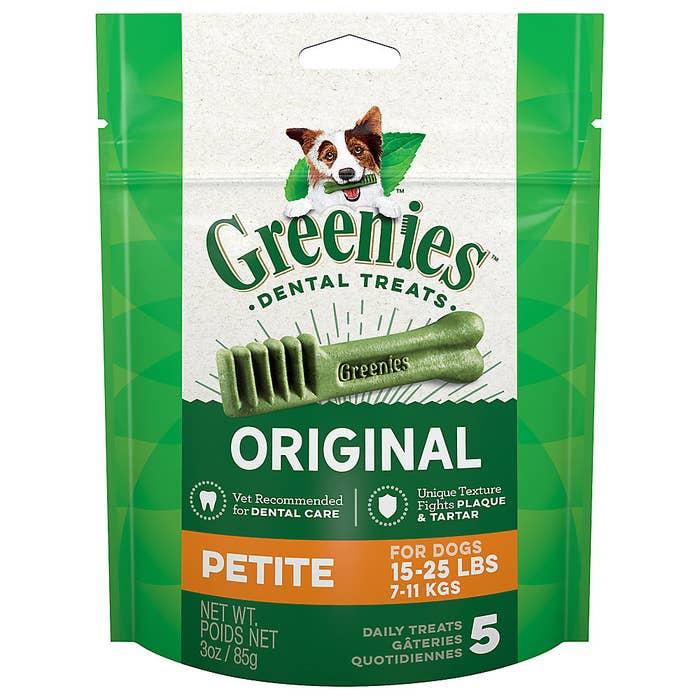 package of original Greenies