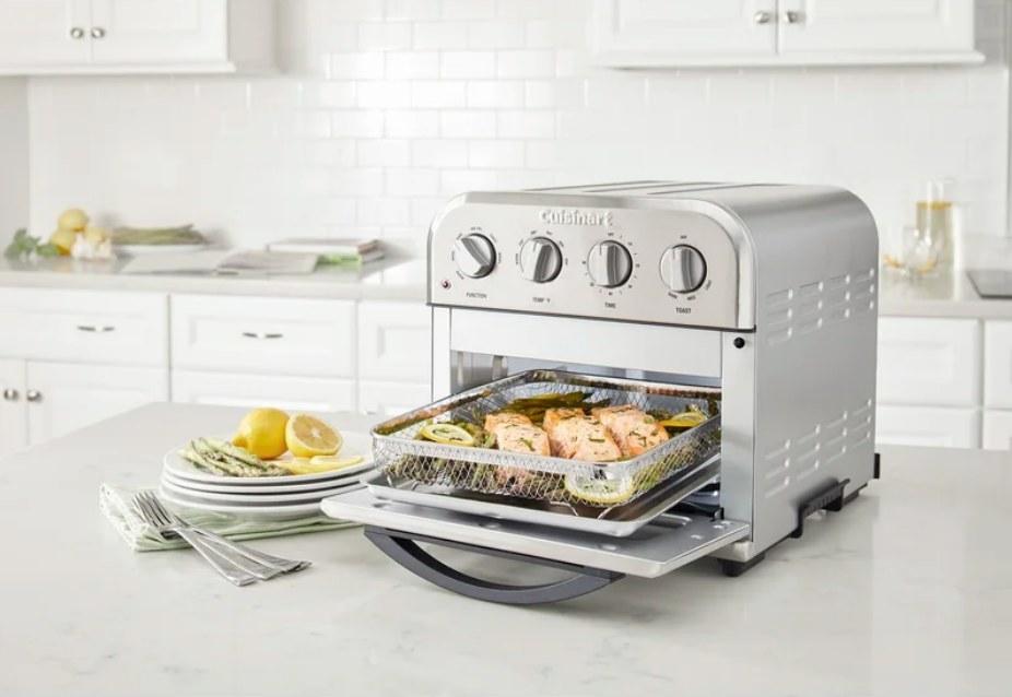 Cuisinart toaster cooking salmon