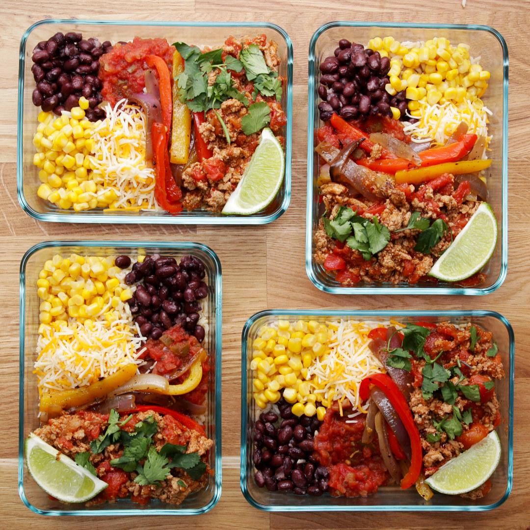 Weekday Meal Prep Turkey Taco Bowls