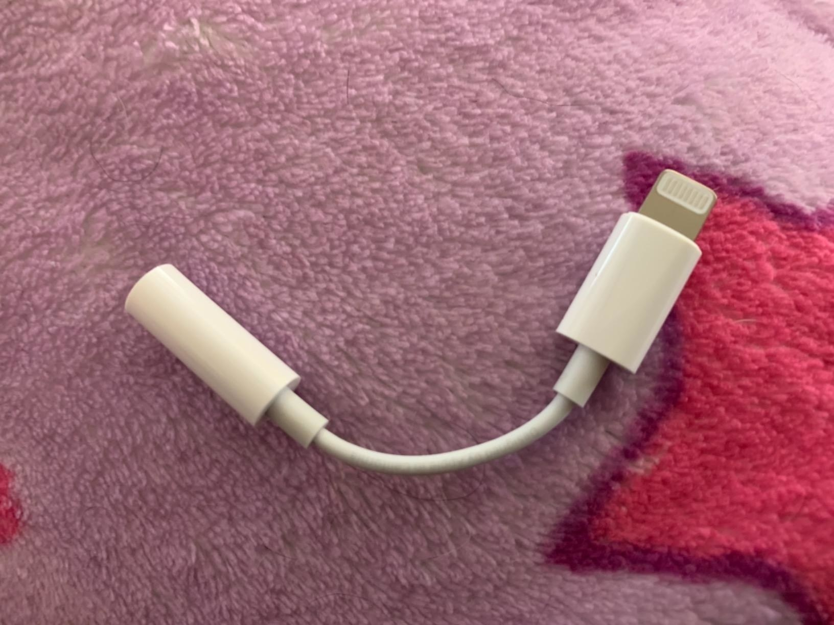 the adapter on a purple background