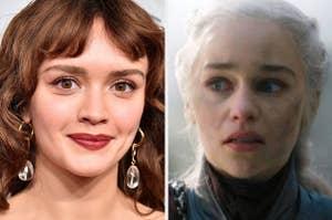 Olivie Cooke and Daenerys Targaryen