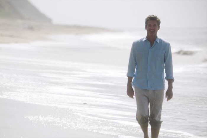 Patrick Dempsey on the beach on Grey's Anatomy