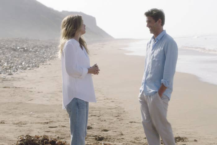 Dempsey and Ellen Pompeo on the beach in Grey's Anatomy