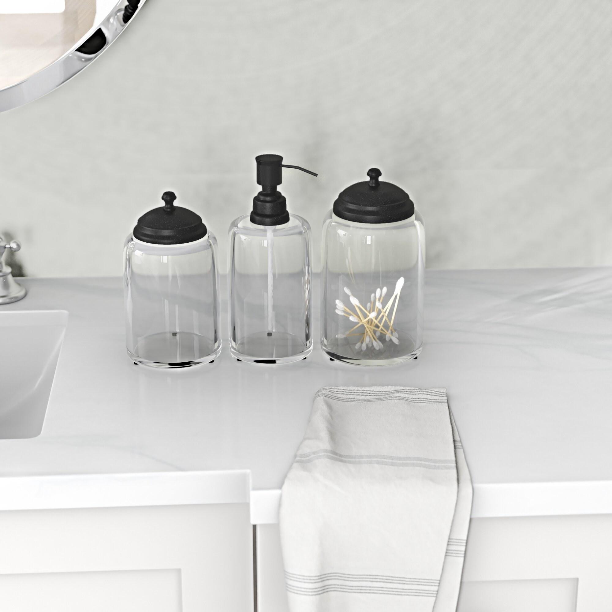 The bathroom set on a counter