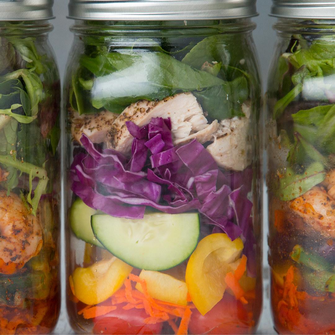 Mason Jar Salad Meal Prep