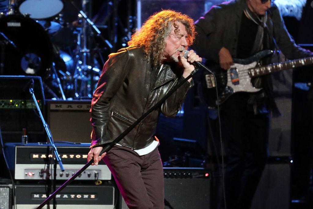 Robert singing onstage