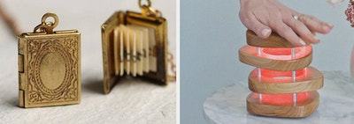 left, necklace, right, lamp