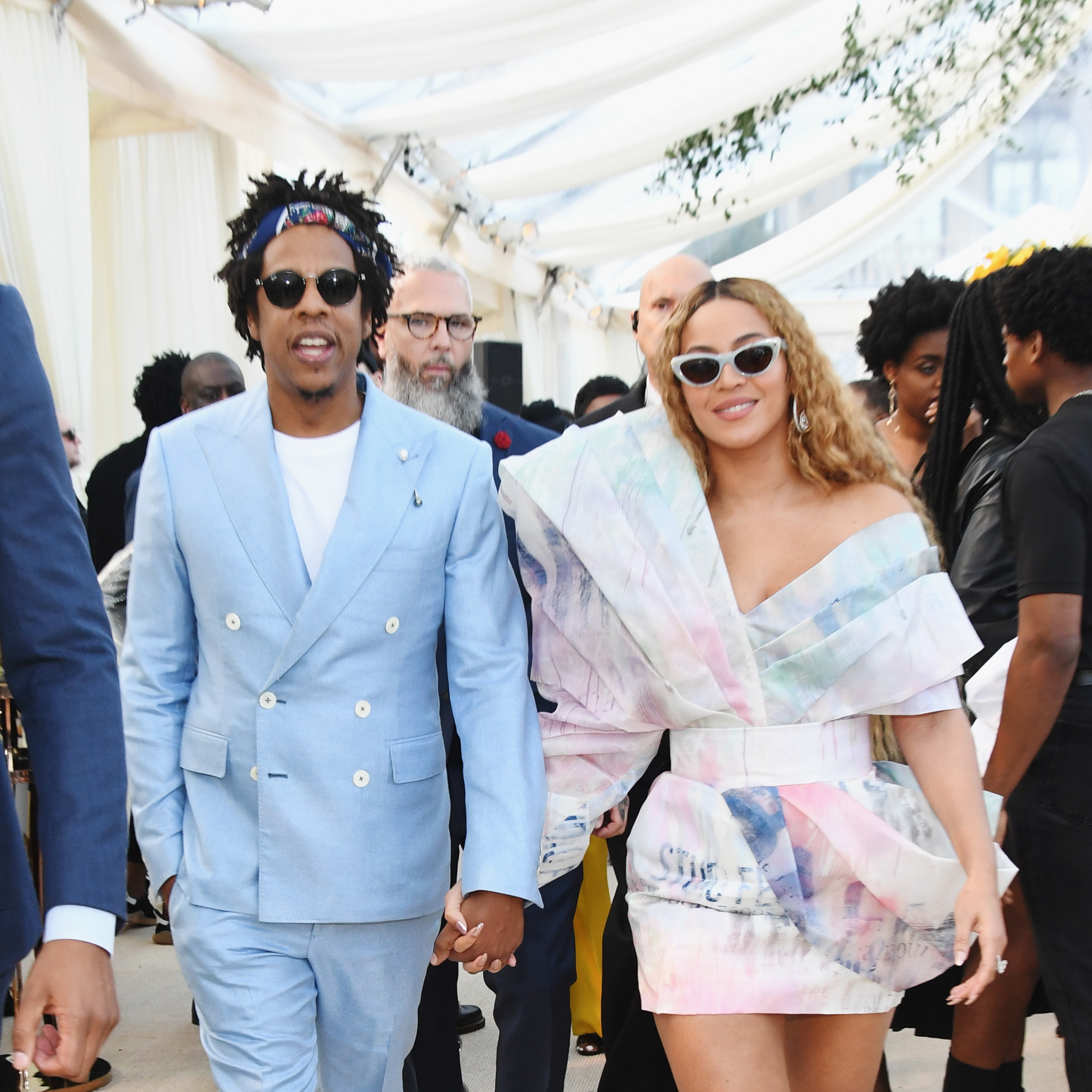 Jay-Z and Beyonce at the 2019 Roc Nation Brunch