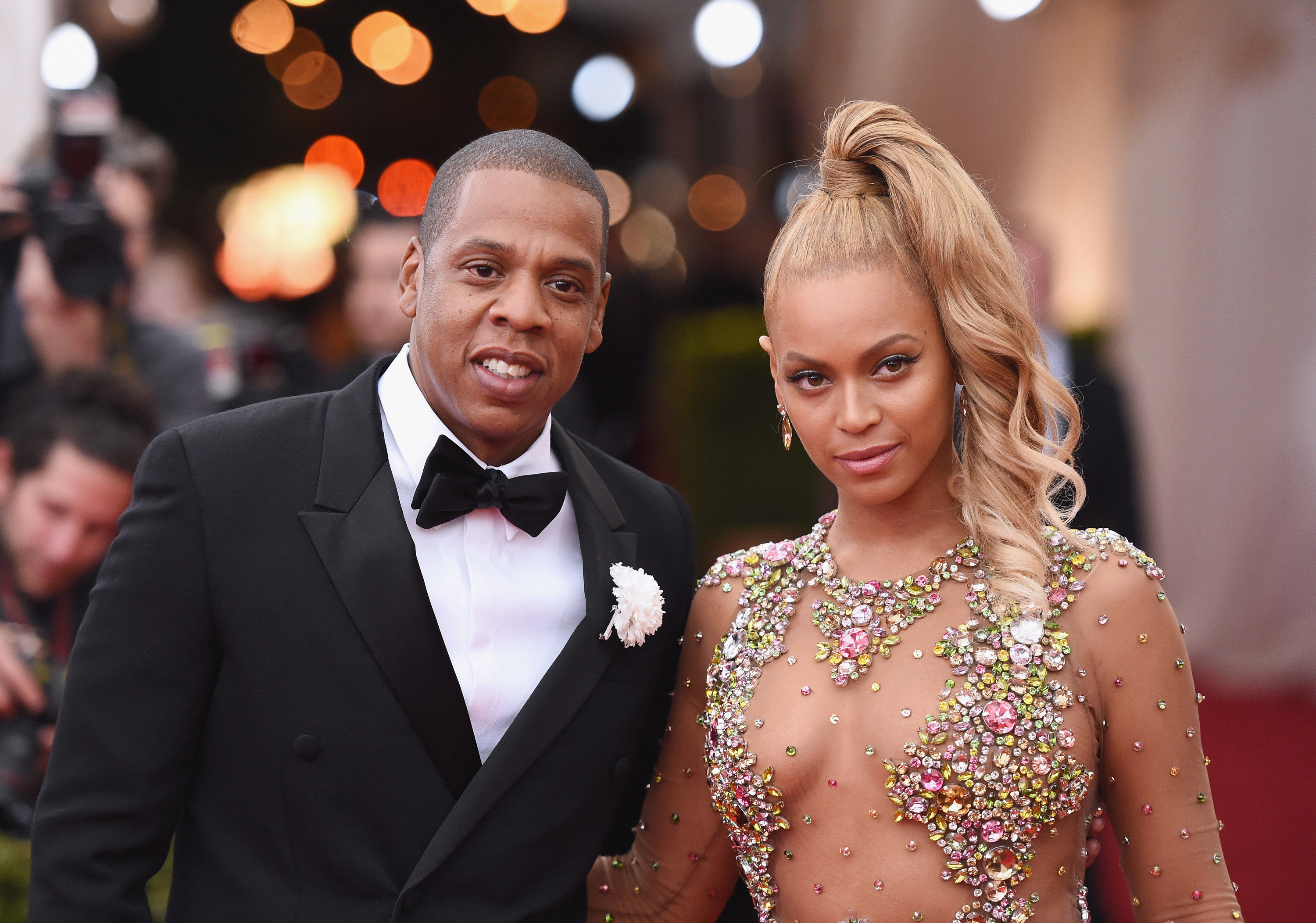 Jay-Z and Beyonce at the Met Gala in 2015