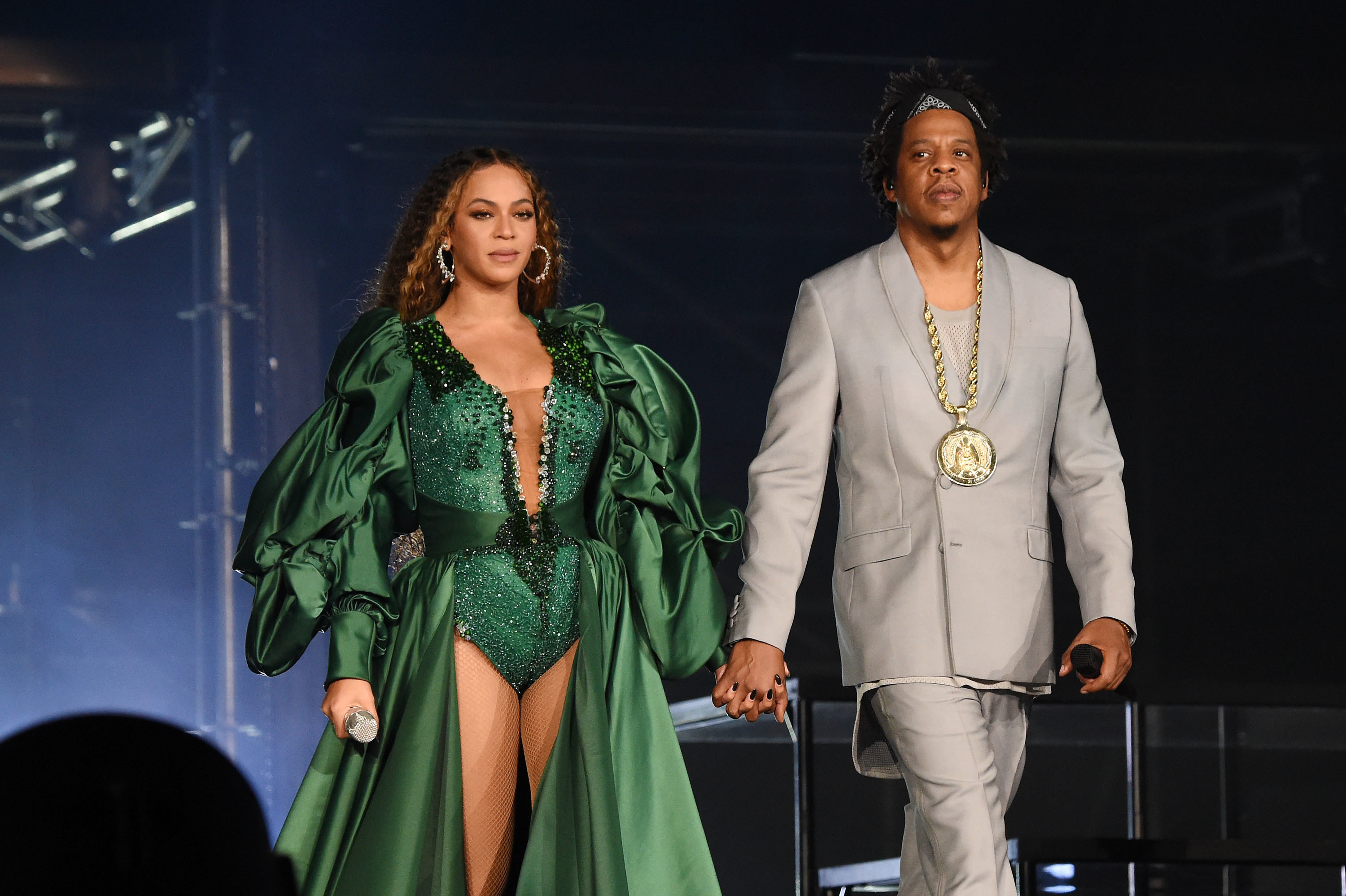Beyonce and Jay-Z at the Global Citizen Festival Mandela 100 concert in 2018