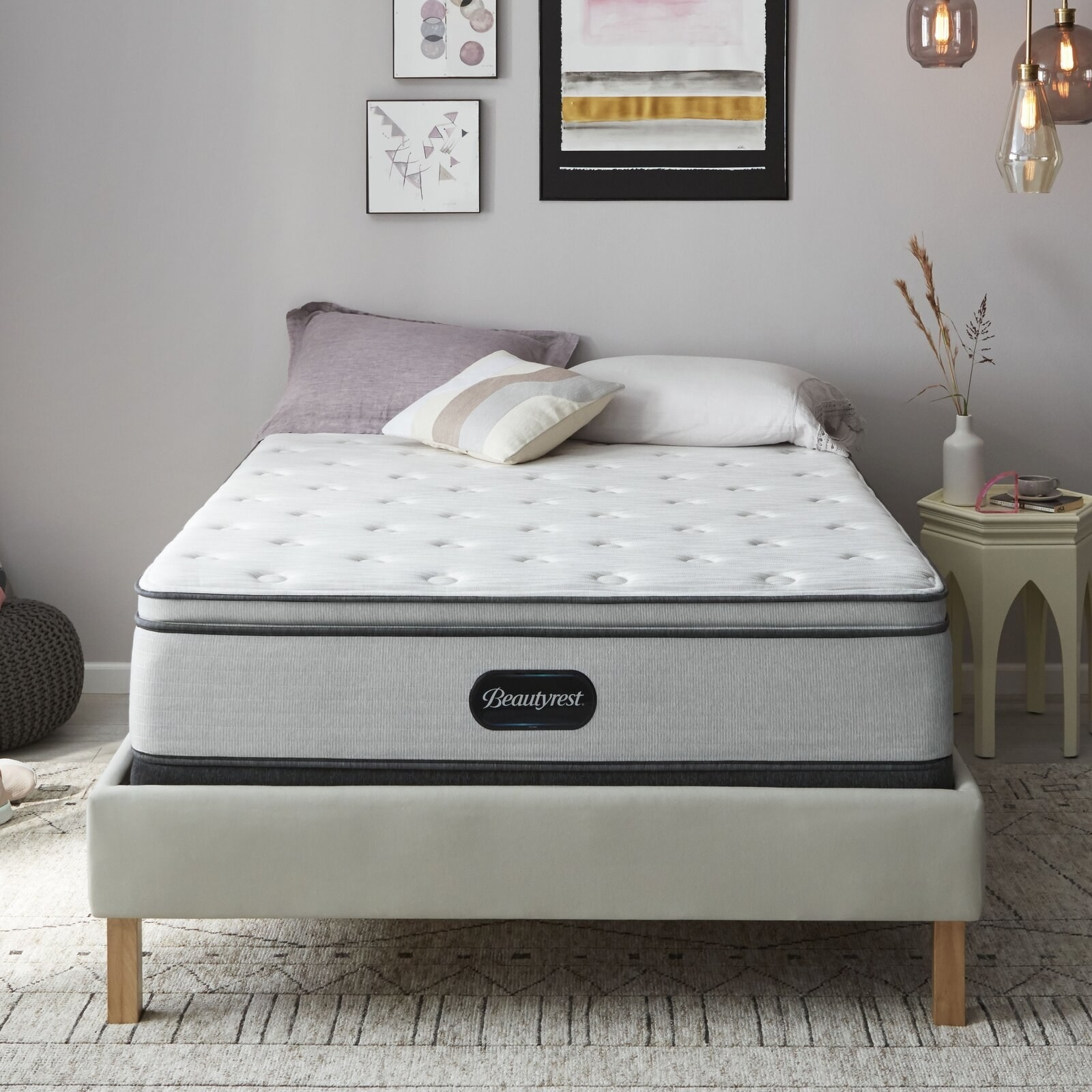 The mattress, which is thick