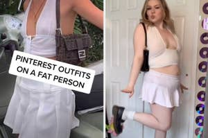 brooklyn recreating an outfit that's a halter crop top and a ruffly skirt