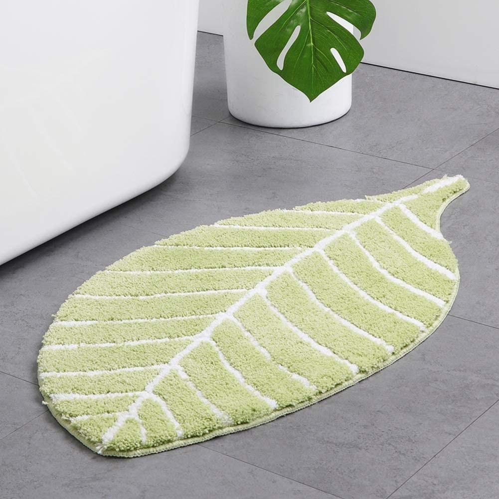 the mat on a bathroom floor