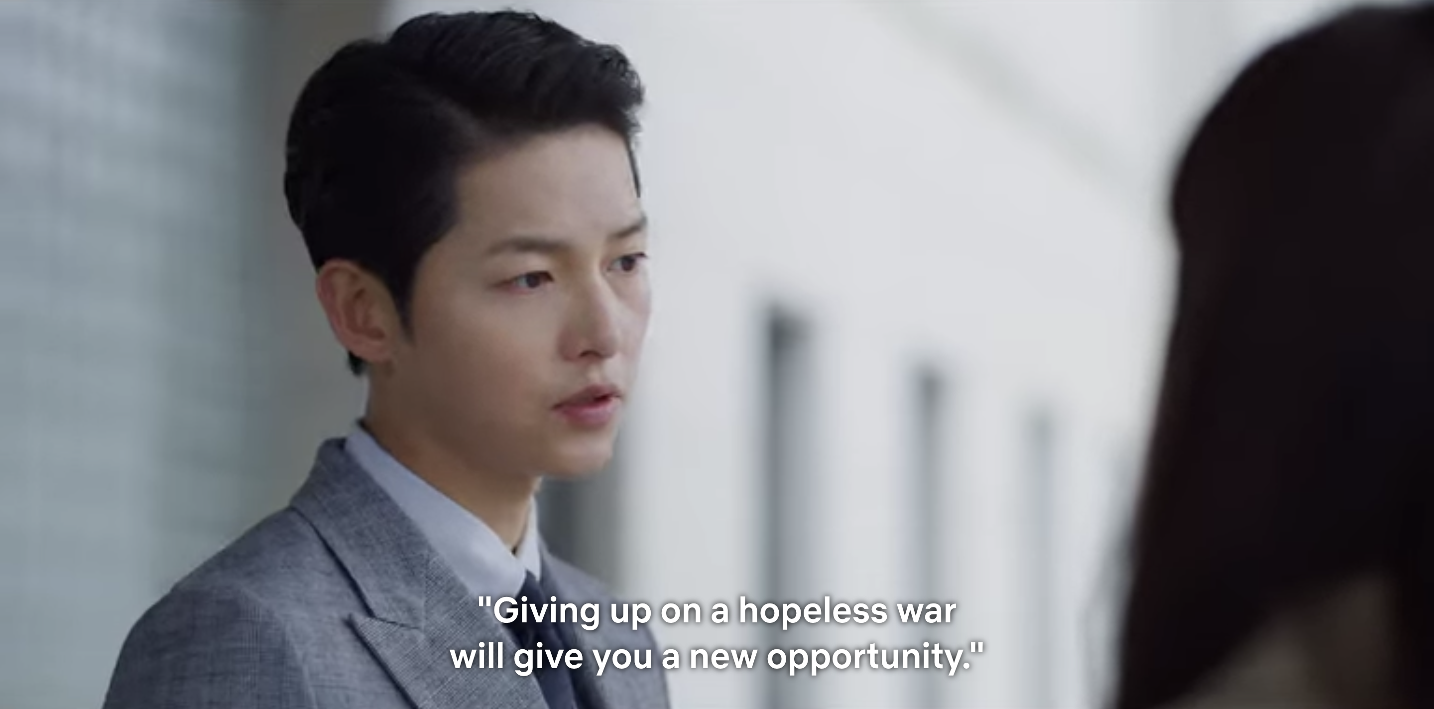 """Vincenzo tells Cha-young, """"giving up on a hopeless war will give you a new opportunity"""""""