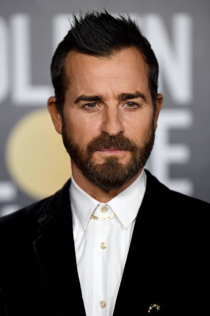 Justin Theroux at the Golden Globes in 2021