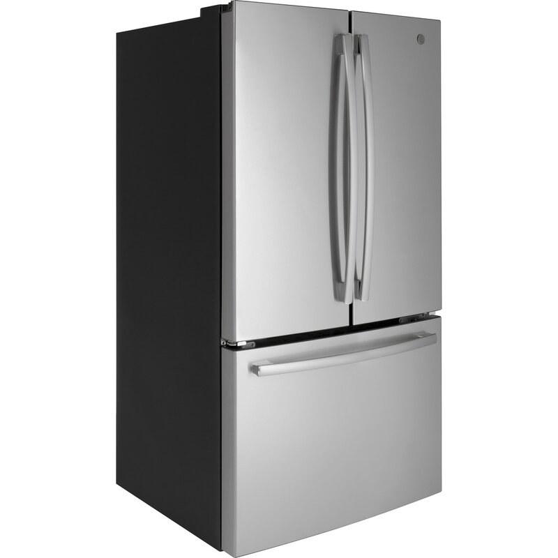 The refrigerator in Fingerprint-Resistant Stainless Steel