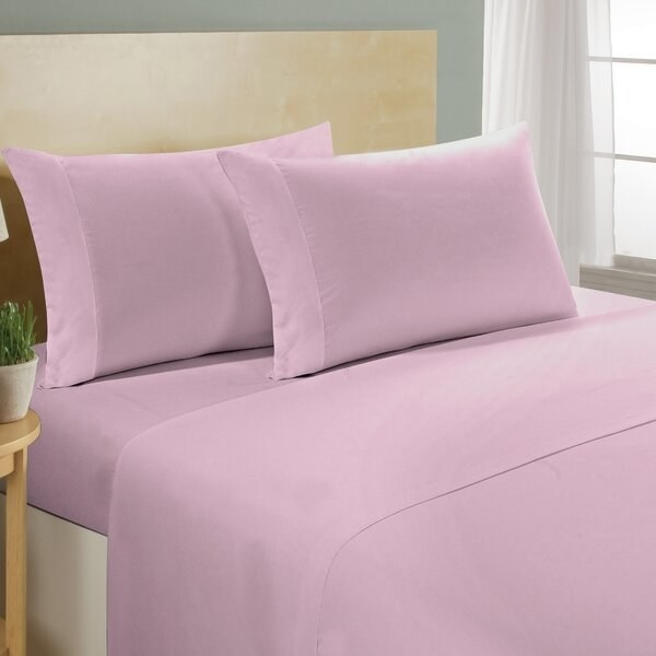 The sheets in purple