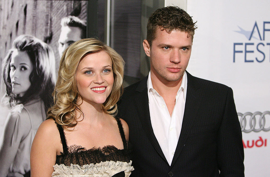 """Reese Witherspoon (L) and Ryan Phillippe during AFI Fest 2005 Opening Night Gala Presents """"Walk the Line"""" Los Angeles Premiere"""