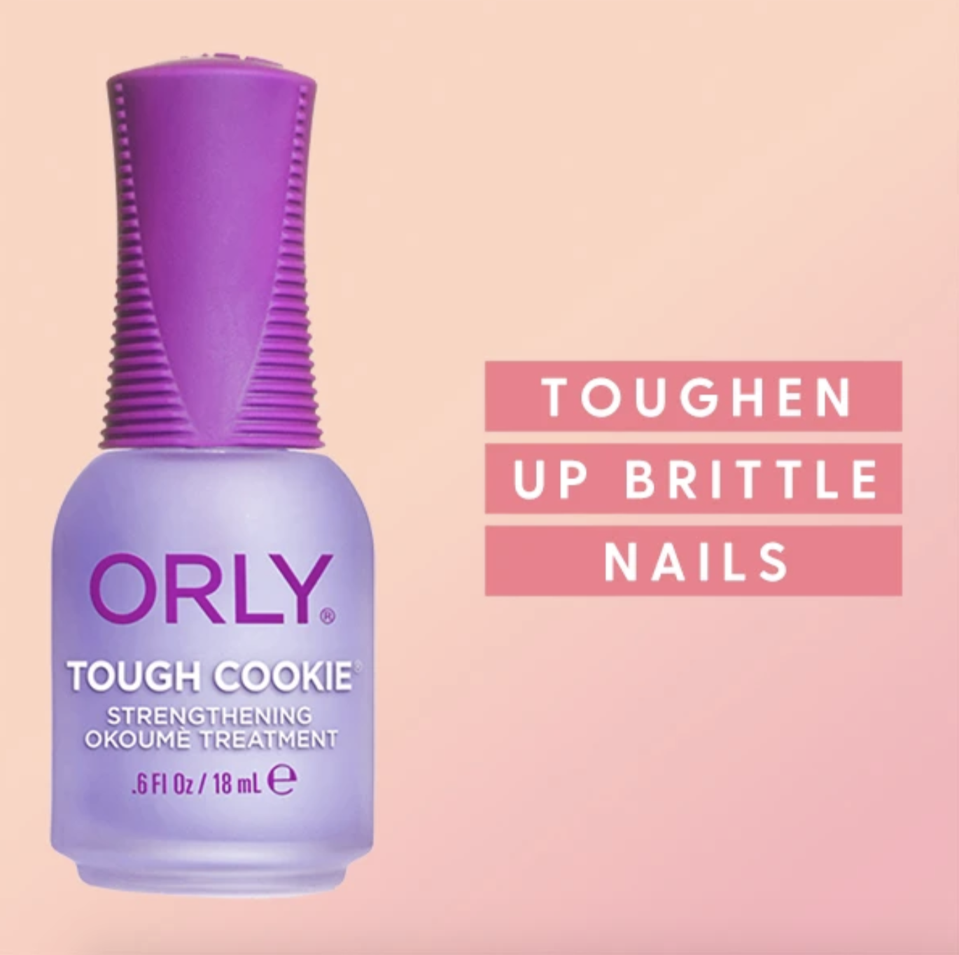 Purple bottle of Orly's Tough Cookie
