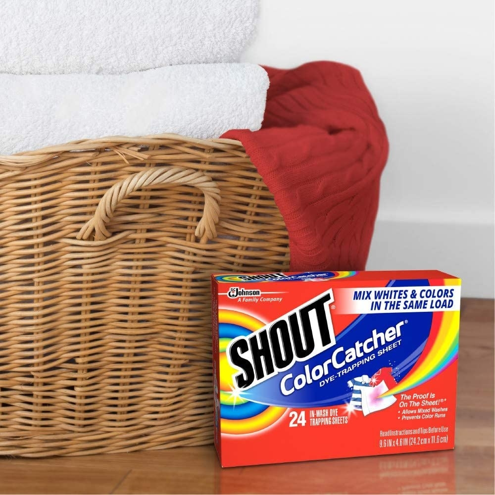 the sheets next to a basket