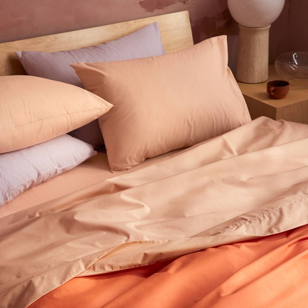 bed made with sheets