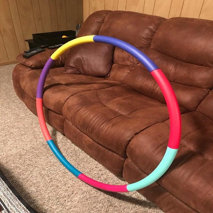 rainbow weighted hula hoop
