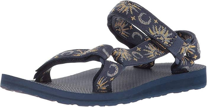 the Tevas sandal with a moon and stars print