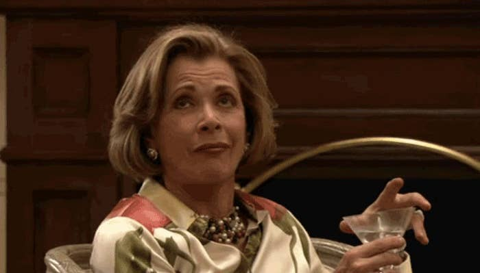 Lucille Bluth rolling her eyes