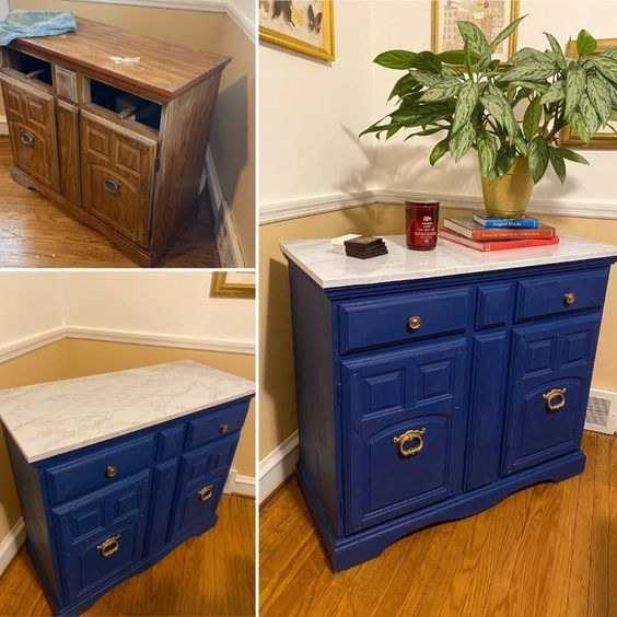 Reviewer's before-and-after of their dresser