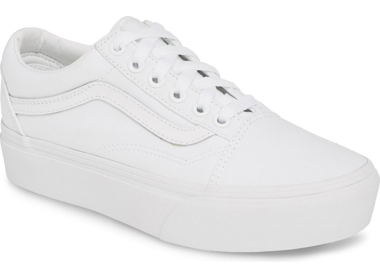 The shoe in white