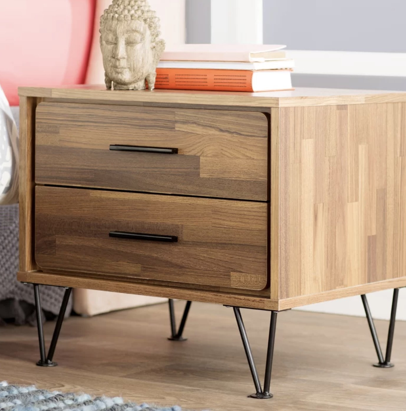the nightstand in walnut