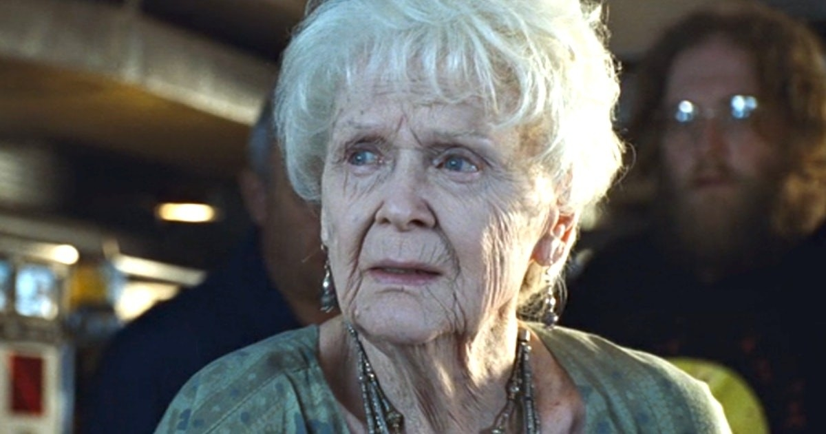 Rose as an elderly woman from the movie Titanic