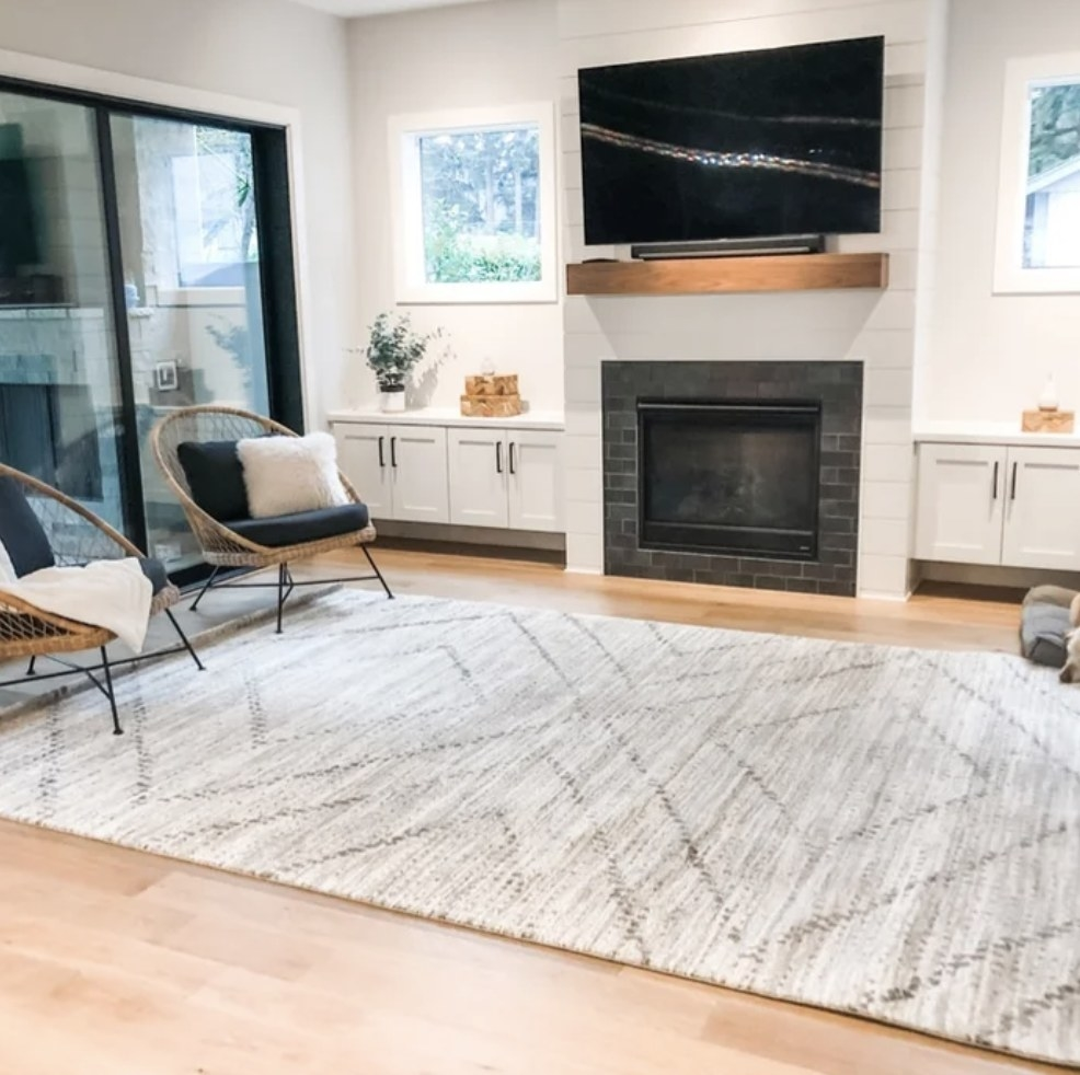 the rug in a reviewer's living room