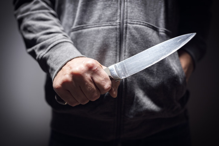 man holding a knife