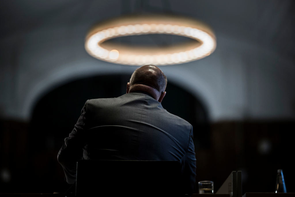 politician with a halo