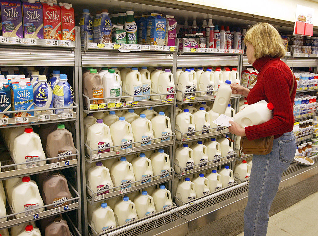 woman searching for milk