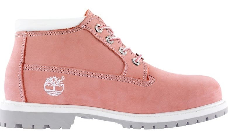 The shoe in Pink Nubuck Leather