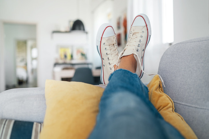 shoes on the couch