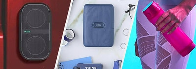 speaker portable printer and smart water bottle