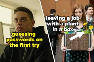 Correctly guessing passwords and leaving a job with a plant in a box