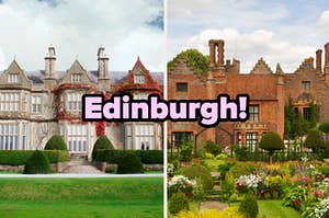 """Edinburgh!"" over country estates"