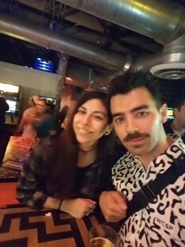 joe jonas in a bar