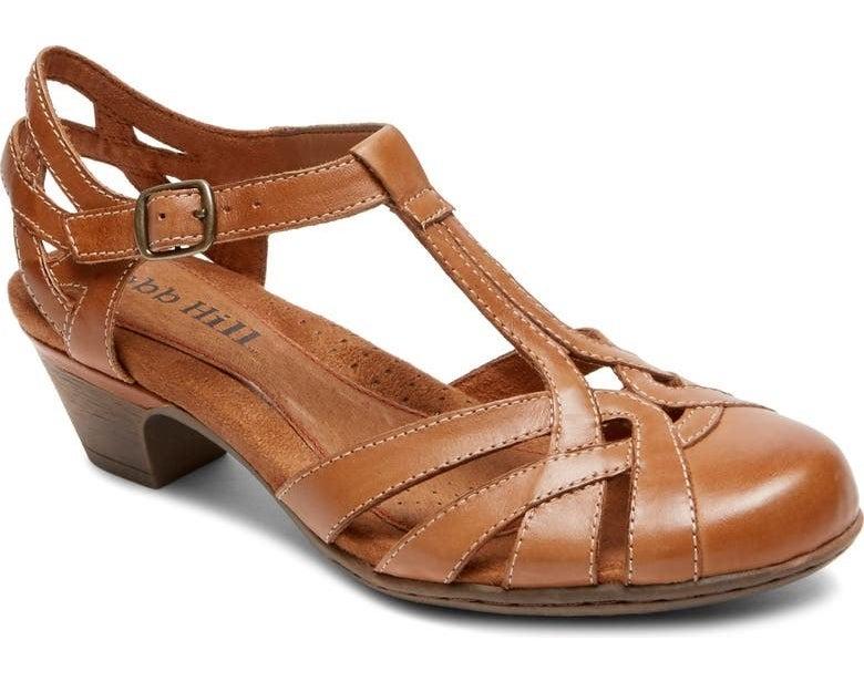 The sandal in tan
